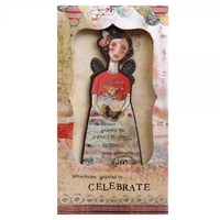 Kelly Rae Roberts Angel Ornament Card - Celebrate