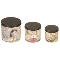 Kelly Rae Roberts Set Of 3 Canisters