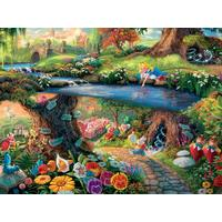 Thomas Kinkade Disney Princess 300 Oversized Piece Puzzle - Alice In Wonderland