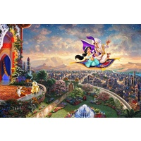 Thomas Kinkade Disney Princess 300 Oversized Piece Puzzle - Aladdin and Princess Jasmine