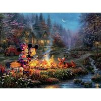 Thomas Kinkade Disney 750pc Puzzle - Mickey And Minnie Sweetheart Fire