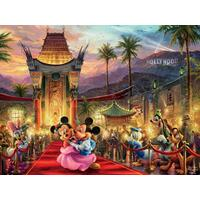 Thomas Kinkade Disney 750pc Puzzle - Mickey And Minnie Hollywood