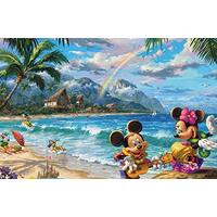 THOMAS KINKADE DISNEY 750PC PUZZLE - MICKEY AND MINNIE IN HAWAII