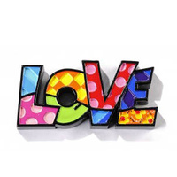 Romero Britto Mini Decor Words - Love