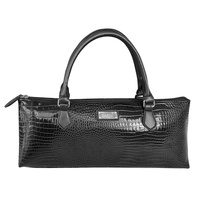 Sachi Insulated Wine Tote - Crocodile Black