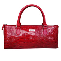Sachi Insulated Wine Tote - Crocodile Red