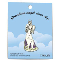 Guardian Angel Visor Clip - Life is a Journey