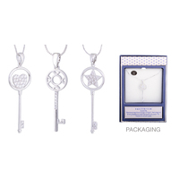 Equilibrium Diamond Key Necklace - Heart