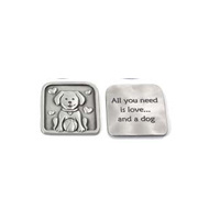 Furry Friends Charm - Dog Square