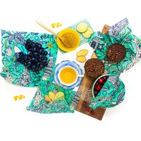 Buzzee Organic Beeswax Reusable Food Wraps - Aqua (4 Pack)