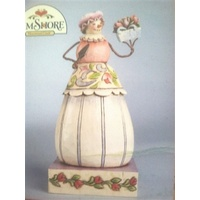 Heartwood Creek Snowman Collection - Winter Blossoms - Small Snowman with Flowers