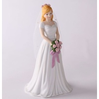 Growing Up Girls - Blonde Bride Cake Topper
