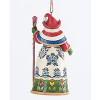 Heartwood Creek Santa around the World Collection - Dutch Santa Hanging Ornament