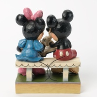 Jim Shore Disney Traditions - Mickey and Minnie 85th Anniversary Sharing Memories Figurine