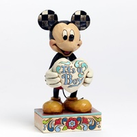 Jim Shore Disney Traditions - Mickey Mouse It's A Boy New Baby Boy Figurine
