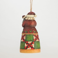 PRE PRODUCTION SAMPLE - Heartwood Creek Hanging Ornament Collection  - Santa with Cat