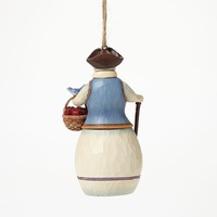 Heartwood Creek Williamsburg Collection  - Williamsburg Snowman with basket Hanging Ornament