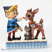 Jim Shore Rudolph Traditions - Hermey and Rudolph with Lighted Nose
