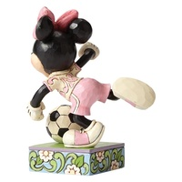 Jim Shore Disney Traditions - Minnie Mouse Football Soccer Goal Figurine