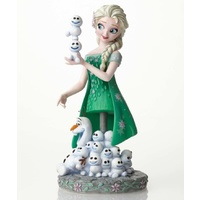 Disney Showcase Grand Jester Studios - Elsa and Olaf from Frozen Fever