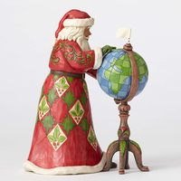 Heartwood Creek Santa Collection - Joy Is In The Journey - Santa With Globe Figurine