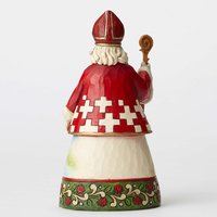 Heartwood Creek Santa around the World Collection - A Smile For Samichlaus - Swiss Santa Figurine