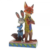 Jim Shore Disney Traditions - Zootopia Judy & Nick Partners In Crime-Fighting Figurine
