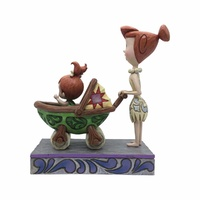 Jim Shore The Flintstones Collection - Wilma With Pebbles In Baby Car - Bedrock Buggy