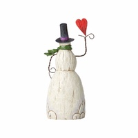 Folklore by Jim Shore - Snowman with Heart