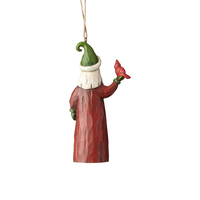 Folklore by Jim Shore - Santa With Cardinal Hanging Ornament