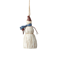 Folklore by Jim Shore - Snowman with Heart Hanging Ornament