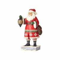 Heartwood Creek Classic - Santa With Lantern And Satchel - Delivering December