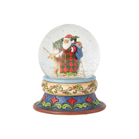 Heartwood Creek Santa Collection - Santa With Deer Waterball - Season Of Giving