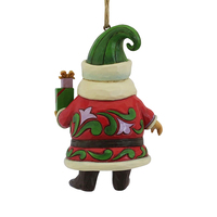Heartwood Creek Classic - Short Round Santa with Gifts Hanging Ornament