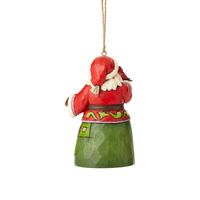Heartwood Creek Classic - Mini Santa with Cardinal Hanging Ornament