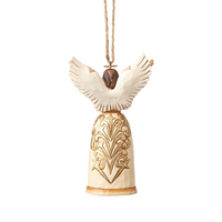 Heartwood Creek Classic - Ivory and Gold Nativity Angel Hanging Ornament
