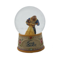Jim Shore Disney Traditions Water Ball - Belle and Beast - Moonlight Waltz