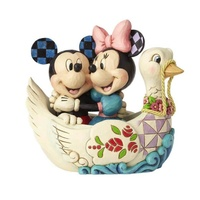 Jim Shore Disney Traditions - Mickey and Minnie Mouse in Swan Figurine