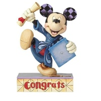 Jim Shore Disney Traditions - Mickey Mouse Graduation Congrats! Figurine