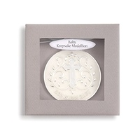 DEMDACO Baby Tender Blessings - God Bless Baby Keepsake Medallion Blue