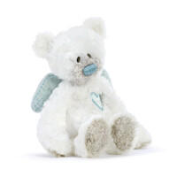 Demdaco Baby - Guardian Angel Bear Rattle Plush Blue