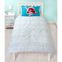 Disney Princess Quilt Cover Set - Single - Little Mermaid Shellfie