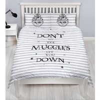 Harry Potter Quilt Cover Set - Double - Don't Let The Muggles Get You Down