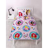 Disney Princess Quilt Cover Set - Single - Fearless