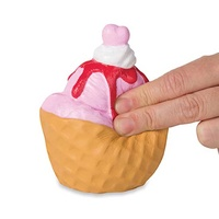 Soft N Slo Squishies Sweet Shop Series 1 - Strawberry Ice Cream Waffle Cup