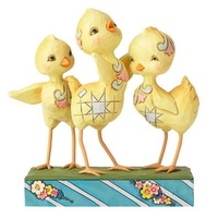 Jim Shore Heartwood Creek - Easter Collection - Hooray for Spring Trio of Chicks