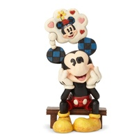 Jim Shore Disney Traditions - Mickey with Love Thought Thinking of You Figurine