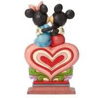 Jim Shore Disney Traditions - Mickey and Minnie Sitting on Heart Figurine