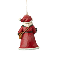 Heartwood Creek Winter Wonderland Collection Hanging Ornament - Santa Holding Holly