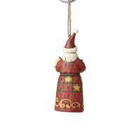 Folklore by Jim Shore Hanging Ornament - Santa with Birdhouse